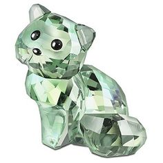 Swarovski Andy the Cat, an endearing Swarovski figurine of Andy the green cat.