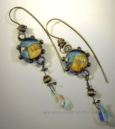 Susan Lenart Kazmer : Resin Jewelry I love Jeweler Susan Lenar Kazmer. I have many of her pieces. #jewelry #industrial #chic
