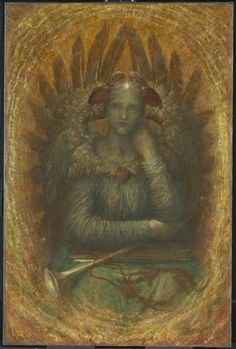 LARGE SIZE PAINTINGS: George Frederic WATTS The Dweller in the Innermost 1885-86