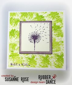 Susanne Rose - Papierkleckse: Mushroom card with Rubber Dance Stamps