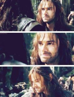 Kíli after his outburst with Thorin