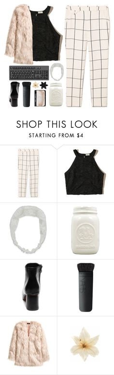 """F E Y R E/1k!!!"" by mcgoddess2 ❤ liked on Polyvore featuring MANGO, Hollister Co., Carole, NARS Cosmetics, H&M, Clips and ASOS"