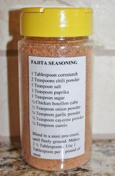 The Righteous Kitchen: Fajita Seasoning Mix