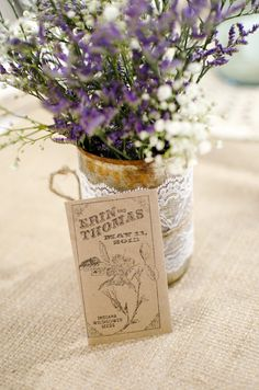 Midwest Engagement and Wedding Photographer. Traveling wedding photographer.  Wildflower seed packet wedding favor.
