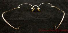 Vtg Antique Shuron 12K GF Wire Half Rim Frames Only Ornate for Glasses FR SHP