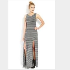 Forever21 maxi double slit dress Forever21 double slit maxi dress...never worn without tags Forever 21 Dresses Maxi