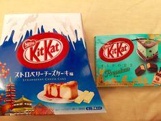 Specialty KitKats in Hakone, Japan.