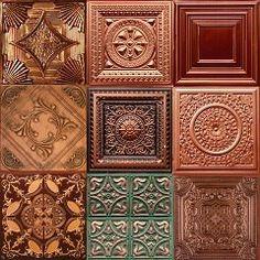 Copper tiles.