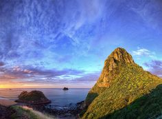 Paritutu Rock, New Plymouth, New Zealand I've climbed this many years ago!