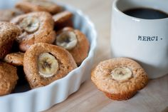 Coffee meets muffin. Made these super easy refined sugar free, paleo and gluten free peanut butter and banana mini muffins in under 30 mins this morning. Inspired by paleOMG's blueberry muffin recipe, but I switched it up a bit. I...