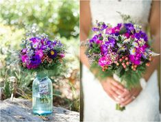 Pretty purple wedding bouquet -  click to view more from this Maryville TN wedding!