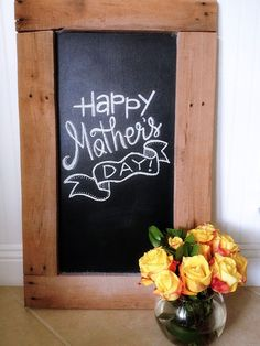 Mother's Day Chalkboard | Growing By Two Tiny Feet