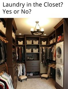 Walk-in closet with laundry (washer & dryer)
