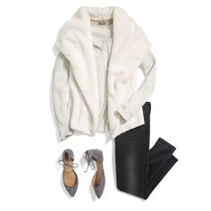 Shear thing! Layer on a shearling-lined jacket or vest this season to warm up any outfit. #StylistTip