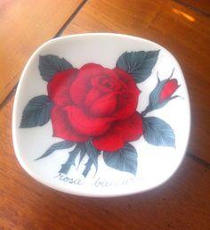 Rosa Baccara Vintage Arabia Finland Decorative Wall Plate Design Esteri Tomula by Pesserae on Etsy
