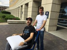 @Hinchtown was released from the hospital today with a little help from @12WillPower! #IndyCar #GetWellSoonHinch