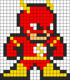 Flash Perler Bead Pattern Perler Bead Pattern / Bead Sprite