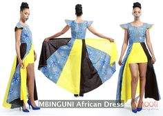 The Mbiguni, a fabulous #African #dress in a half max style which gives you an off the runway feel.   Joroh Clothing Line from #Uganda, Africa available at Amooti.  Nationwide shipping from Boston, MA