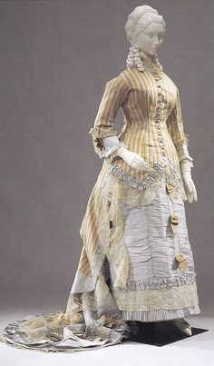 Day dress ca. 1878 From the Pitti Palace Gallery of Costume via Material World