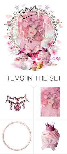 """Cupcake Queen"" by smorgasbordhotel ❤ liked on Polyvore featuring art, queen, cupcakes and artexpression"