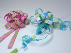 Ribbon Bows with the Bath Scrubby Pattern 3