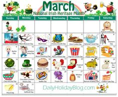 """Did you know that there is a holiday for everyday of the year. Nothing big, but they are fun little things to """"celebrate"""". Here is a calendar of all the months. Though the months don… Unusual Holidays, Wacky Holidays, Weird Holidays, Weird National Holidays, Funny Holidays, March Holidays, A Days March, National Days In March, National Holiday Calendar"""