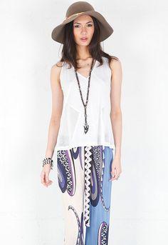 pretty pattern maxi skirt