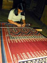 Ikat weaver from Bal