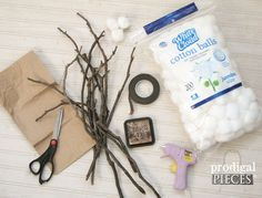 DIY Farmhouse Cotton Branches for Less Than $4 for 2 Displays | Hometalk