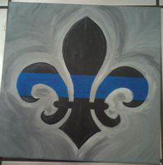 Hey, I found this really awesome Etsy listing at https://www.etsy.com/listing/156038449/thin-blue-line-fleur-de-lis-12-x-12