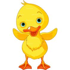 CLIPART BABY DUCK   Royalty free vector design