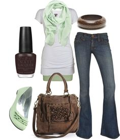"""mint chocolate chip"" by htotheb on Polyvore"