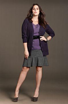 Sejour Cap Sleeve Top, Cardigan & Herringbone Skirt