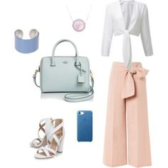 Pastel office outfit
