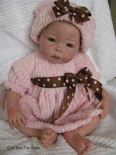Three Piece Reborn Doll Set Infant Dress Baby by katiescarousel, $46.95