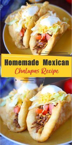 Mexican food recipes 528398968781555641 - Homemade Mexican Chalupas Recipe – Best easy cooking – Best easy cooking Source by zayss Mexican Chalupas Recipe, Chalupa Recipe, Mexican Food Recipes, Beef Recipes, Cooking Recipes, Drink Recipes, Zucchini, Comida Latina, Latin Food