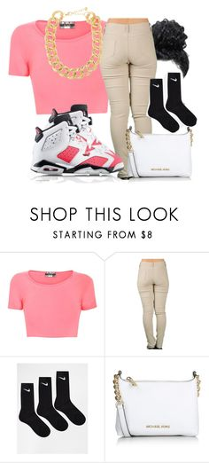 """""""Is it me or you like what I'm wearing"""" by wateveruwant ❤ liked on Polyvore featuring Pilot, NIKE, Michael Kors and 10 Bells"""