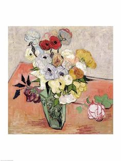 Roses and Anemones, 1890 by Vincent Van Gogh art print