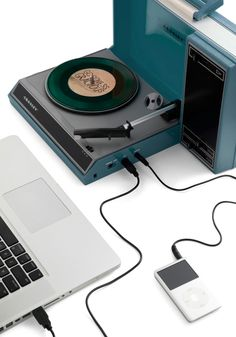 Needle in a Play-stack Turntable in Blue