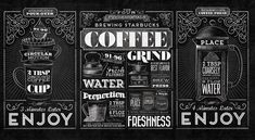 Starbucks - Home Brew Typographic Mural by Jaymie McAmmond, via Behance
