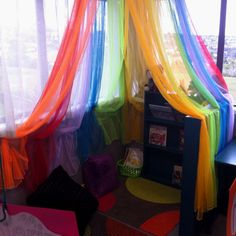 Omg rainbow reading corner yes please!!!!! <3 <3