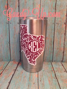 Yeti Tumbler Decal 2 Layers 2 Colors Rambler Decals by GaudyUpTX
