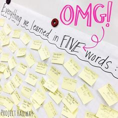 �Seriously. You've got to try this! � Tell your students to fill a poster with everything that they learned during a unit using exactly five words for��