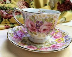 Vintage Royal Albert Floral Tea Cup & Saucer by antic354 on Etsy