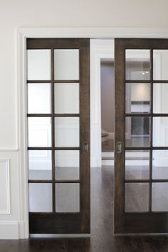 Sliding pocket doors in white eventually used in a new for Sliding glass doors that look like french doors