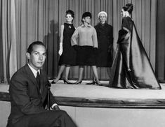 Oscar de la Renta's Life Through the Years - NYTimes.com Oscar de la Renta with models from his collection for Elizabeth Arden in 1965