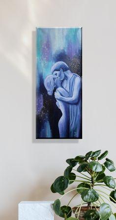 Original Art in Acryl on canvas Kiss Painting, Figurative, Original Art, Wall Art, The Originals, Canvas, Instagram, Photos, Modern Art