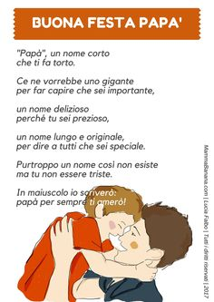 Festa papà Italian Grammar, Italian Language, Dad Day, Perfect Party, Gifts For Dad, Montessori, Fathers Day, Best Quotes, Crafts For Kids
