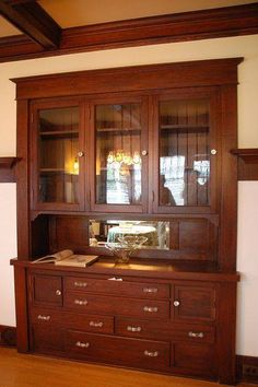 notice interior of glass cabinets
