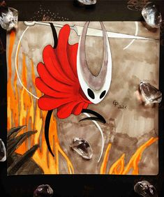 Here you can see Hornet from Hollow Knight Hornet, Art Sketchbook, Knight, Moose Art, Fanart, My Arts, Painting, Animals, Animales